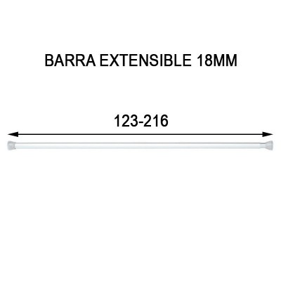 BARRA EXTENSIBLE 18MM...