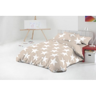 FUNDA NÓRDICA 90 CM STAR BEIG