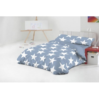 FUNDA NÓRDICA 90 CM STAR AZUL